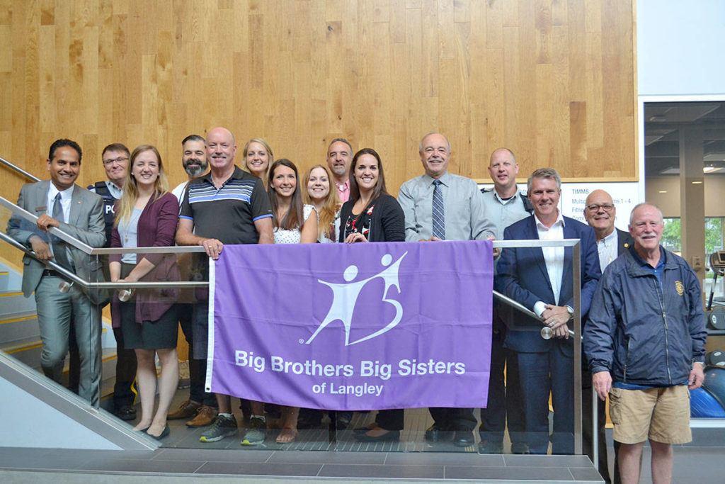 Langley's Big Brothers Big Sisters group raises the flag to raise