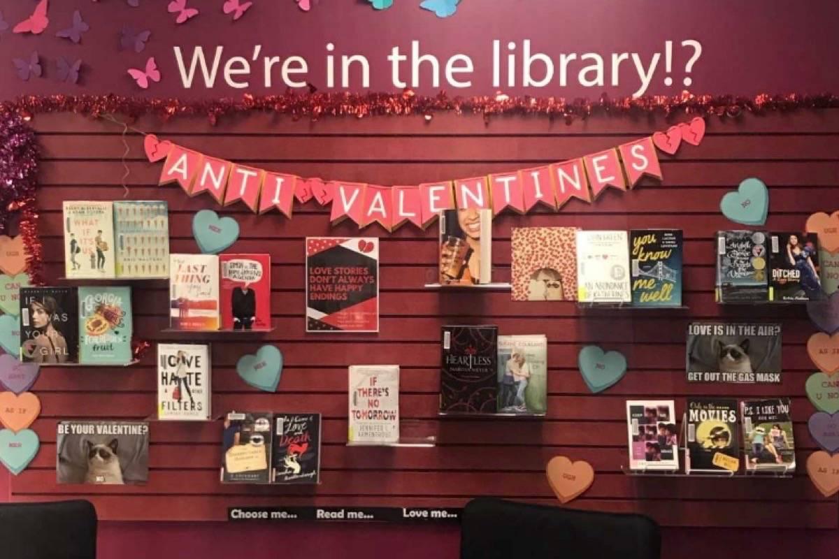 Aldergrove librarian creates Anti-Valentine\'s day wall ...