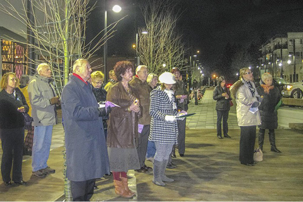 Candlelight vigil shines a light on domestic violence in Langley - Aldergrove Star