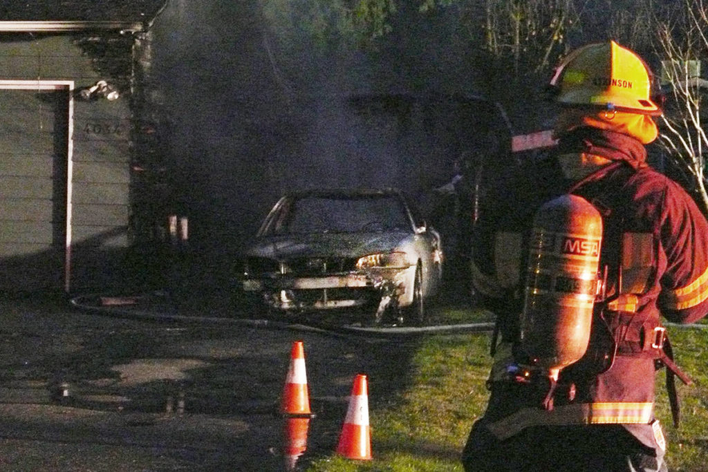 VIDEO: Multiple fire department units called to Brookswood house fire - Aldergrove Star
