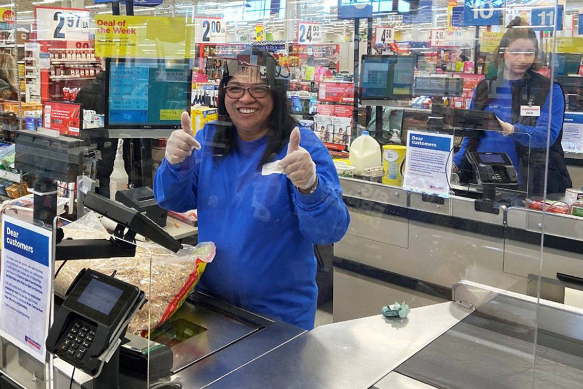 Langley Superstore installs plexi-glass shields at cash registers ...