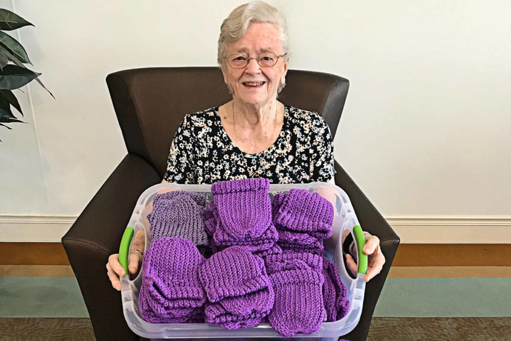 Langley senior fashions tiny toques to spotlight shaken baby syndrome - Aldergrove Star