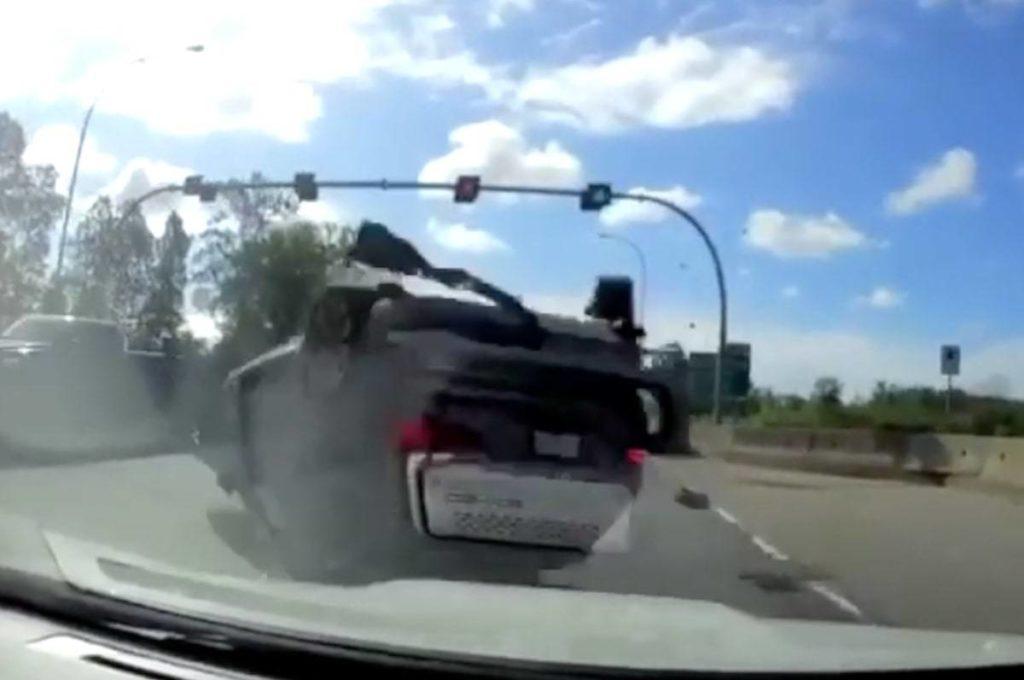 VIDEO: Dash cam captures dramatic rollover crash on Highway 99 - Aldergrove Star